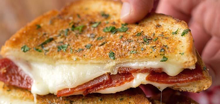 Cheesy Pepperoni Pizza Panini