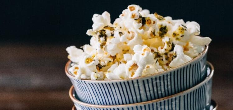 Italian Herb Butter Popcorn