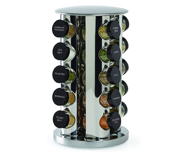 Kamenstein 30020 Revolving 20 Jar Countertop Spice Rack Tower Organizer