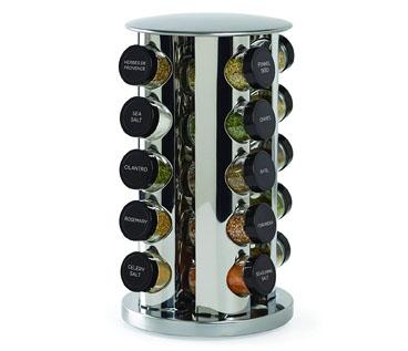 Kamenstein 30020 Revolving 20 Jar Countertop Spice Rack Tower Organizer