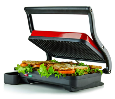 Ovente Electric Panini Press Grill and Gourmet Sandwich Maker