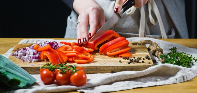Place a Damp Towel Under the Cutting Board
