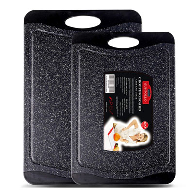 SUNPOLLO Marble Appearance Plastic Cutting Board