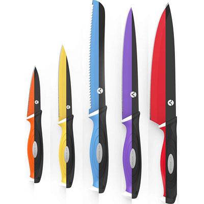 Vremi 10-Piece Colorful Knife Set