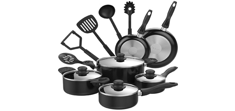 hOmeLabs 15 Piece Nonstick Cookware Set