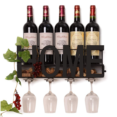 Soduku Metal & Mesh Wall Wine Rack