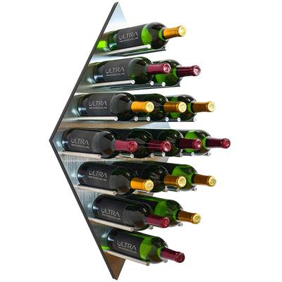 Ultra Wine Racks Aluminium Diamond Wall Mounted Wine Rack