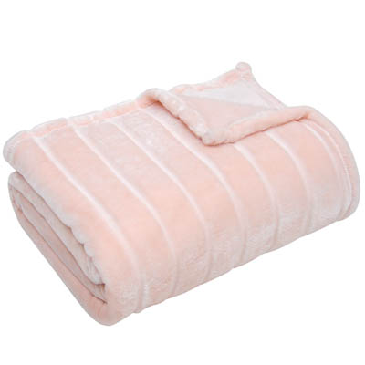 Bertte Ultra Velvet Plush Super Soft Decorative Stripe Throw Blanket