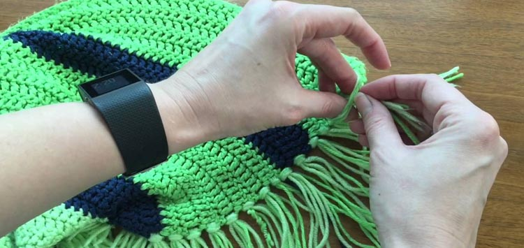 Fringe the Edges DIY Blanket