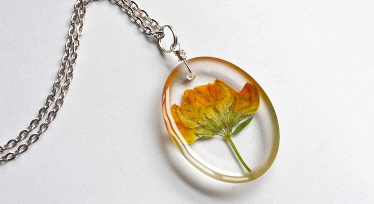 Dried Flower Resin Jewelry