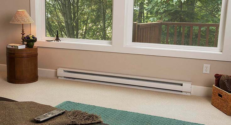 Electric Baseboard Heaters Requires Cleared Space