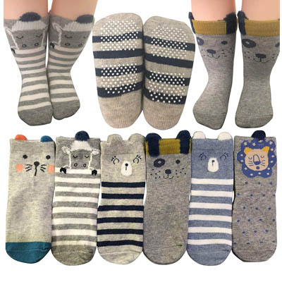 Baby Socks 6 Pairs Non Skid 12 36 Months Baby Boys Girls Toddler