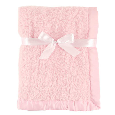 Hudson Baby Sherpa Blanket with Satin Binding