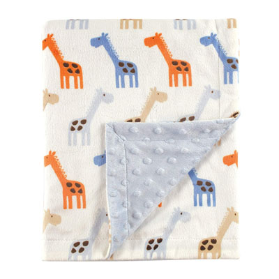 Hudson Baby Unisex Baby Plush Mink Blanket