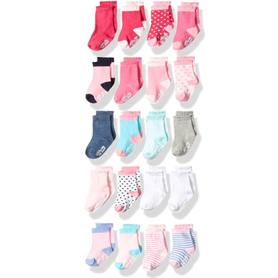 Little Me Baby 20Piece Assorted Socks, Girls, Multi, 0 12 12 24 Months