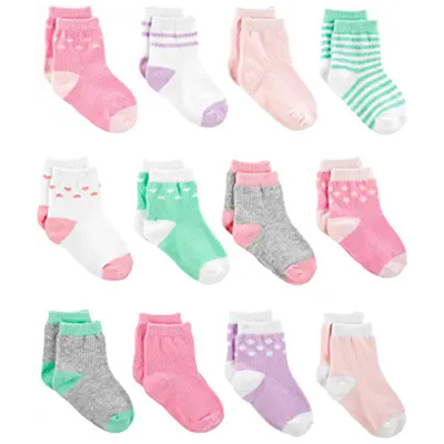 Simple Joys by Carter's Baby Girls' 12-Pack Socks