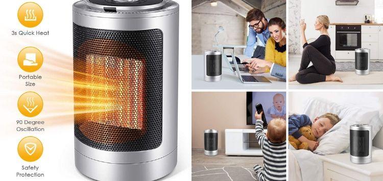 Meetkey Oscillating Ceramic Space Heater