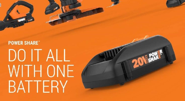 WORX WG163 String Trimmer Battery Timing