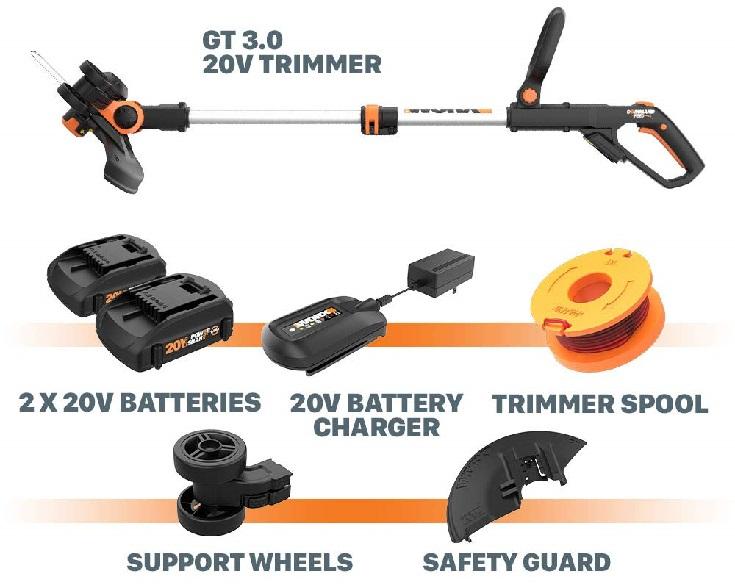 WORX WG163 String Trimmer Battery